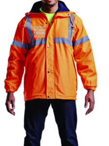 OR Tambo Parking Services Uniform Jacket from Front